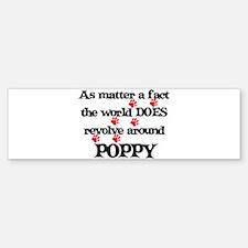 The World Revolves Around Pop Bumper Bumper Bumper Sticker