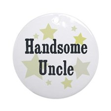 Handsome Uncle Ornament (Round)