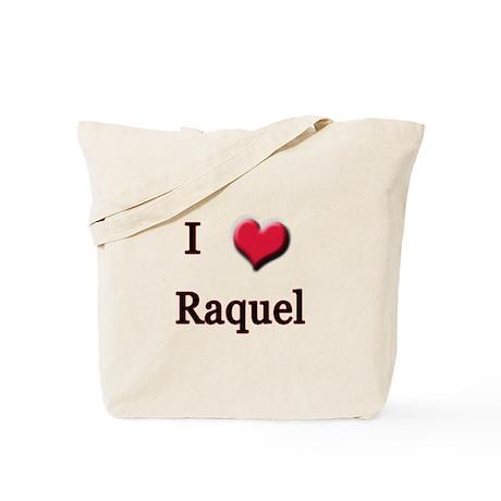 I Love (Heart) Raquel Tote Bag