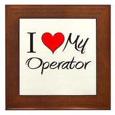 I Heart My Operator Framed Tile