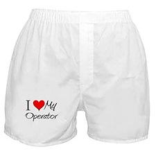 I Heart My Operator Boxer Shorts