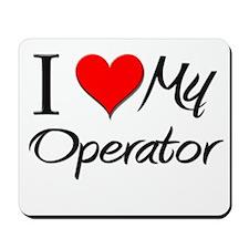 I Heart My Operator Mousepad