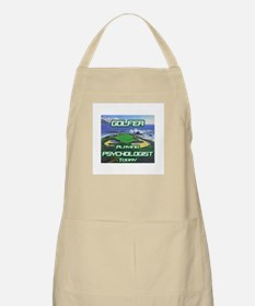 """Golfer Playing Psychologist Today"" BBQ Apron"