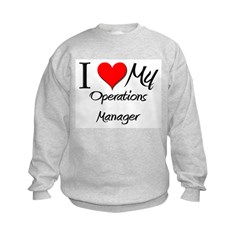 I Heart My Operations Manager Sweatshirt