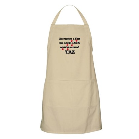 The World Revolves Around Taz BBQ Apron