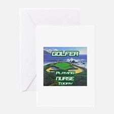 """Golfer Playing Nurse Today"" Greeting Card"