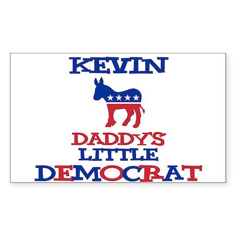 Kevin - Daddy's Little Democr Sticker (Rectangular