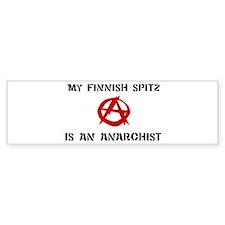 Finnish Spitz anarchist Bumper Bumper Bumper Sticker
