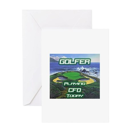 """Golfer Playing CFO Today"" Greeting Card"