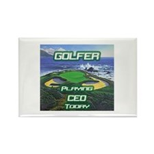 """""""Golfer Playing CEO Today"""" Rectangle Magnet"""