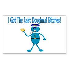 Last Doughnut Rectangle Decal