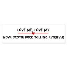 Love My Nova Scotia Duck Toll Bumper Bumper Sticker