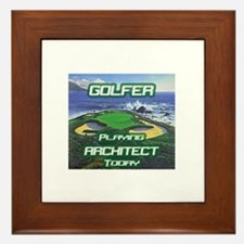 """""""Golfer Playing Architect Today"""" Framed Tile"""