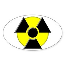 3D Radioactive Symbol Oval Decal