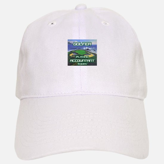 """Golfer Playing Accountant Today"" Baseball Baseball Cap"