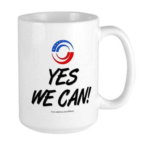"""Yes We Can!"" Large Mug"