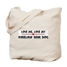 Love My Karelian Bear Dog Tote Bag