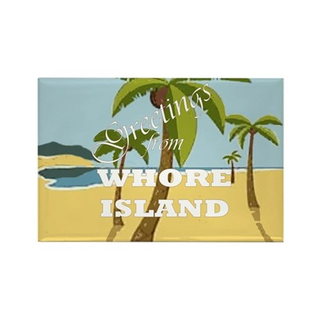 Whore Island Rectangle Magnet (100 pack)
