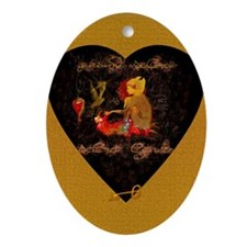 """Secret Garden"" Oval Ornament"