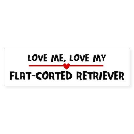 Love My Flat-Coated Retriever Bumper Sticker