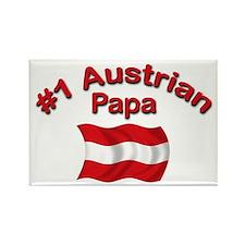 #1 Austrian Papa Rectangle Magnet