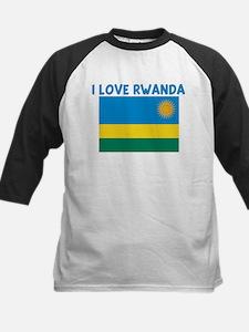 I LOVE RWANDA Kids Baseball Jersey