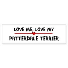 Love My Patterdale Terrier Bumper Bumper Bumper Sticker
