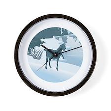 Scenic Goat Christmas Wall Clock