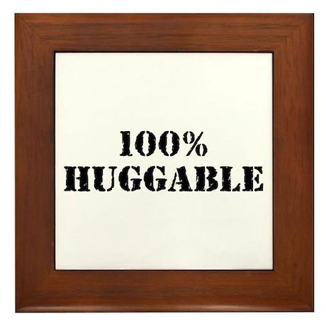 100% Huggable Framed Tile