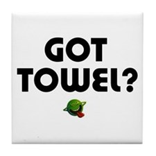 Hitchiker - Got Towel? Tile Coaster