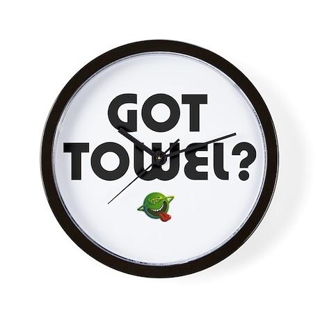 Hitchiker - Got Towel? Wall Clock