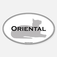 Oriental Oval Oval Decal
