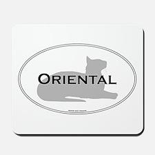 Oriental Oval Mousepad