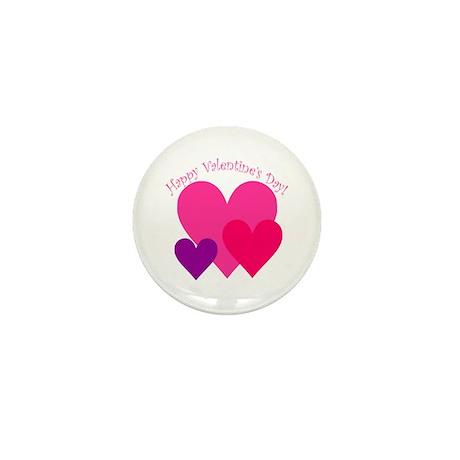 Valentine's Day Hearts Trio Mini Button (10 pack)