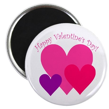 """Valentine's Day Hearts Trio 2.25"""" Magnet (10 pack)"""