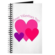 Valentine's Day Hearts Trio Journal