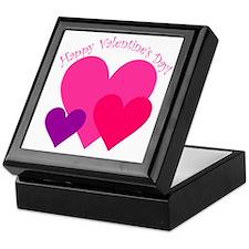 Valentine's Day Hearts Trio Keepsake Box