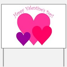 Valentine's Day Hearts Trio Yard Sign