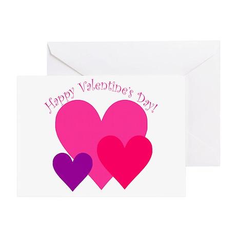 Valentine's Day Hearts Trio Greeting Card