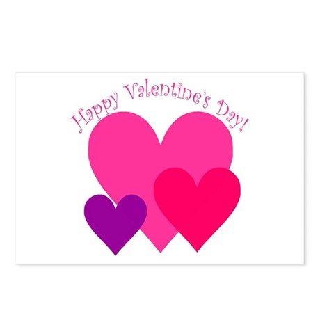 Valentine's Day Hearts Trio Postcards (Package of