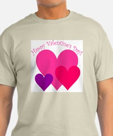 Valentine's Day Hearts Trio T-Shirt