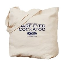 Property of Bare-Eyed Cockatoo Tote Bag
