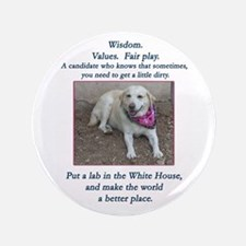 "Lab For President 3.5"" Button"