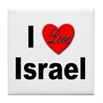 I Love Israel for Israel Lovers Tile Coaster