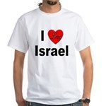 I Love Israel (Front) White T-Shirt