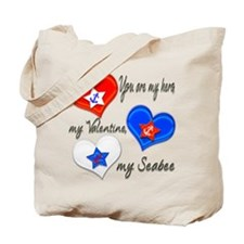 3 Hearts Seabee Tote Bag
