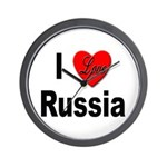 I Love Russia for Russians Wall Clock