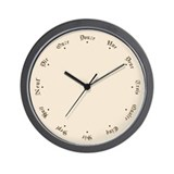 French language Wall Clocks