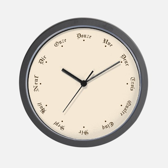 Quaint Wall Clock with French Numbers