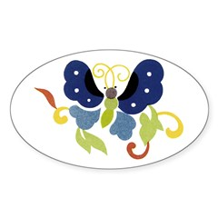 Butterfly 13 Store Oval Decal